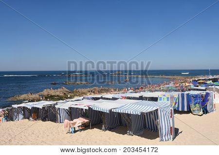 Beach of Vila do Conde in Douro Region Northern Portugal
