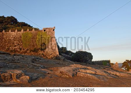 Sunset In The Fortress Of Baiona, Pontevedra Province, Galicia, Spain