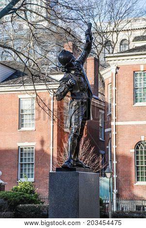 The Signer Statue in Philadelphia, United States