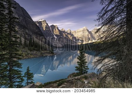 the Moraine Lake in Banff National Park
