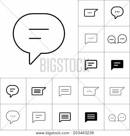 Thin Line Chat, Speech, Bubble, Chatting  Icon On White Backgrou