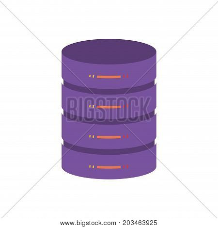 server hosting storage icon colorful vector illustration