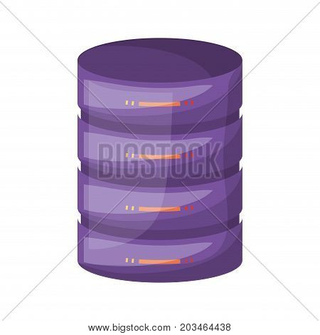 server hosting storage icon colorful and shading vector illustration