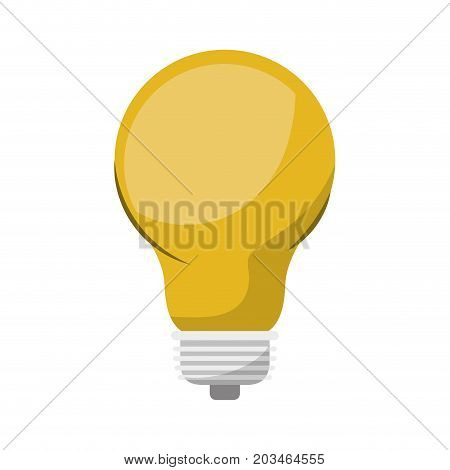 light bulb colorful icon and shading vector illustration