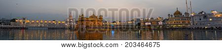 The Golden Temple At Amritsar, Punjab, India, The Most Sacred Icon And Worship Place Of Sikh Religio
