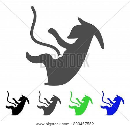 Alien Embryo icon. Vector illustration style is a flat iconic alien embryo symbol with black, grey, green, blue color versions. Designed for web and software interfaces.