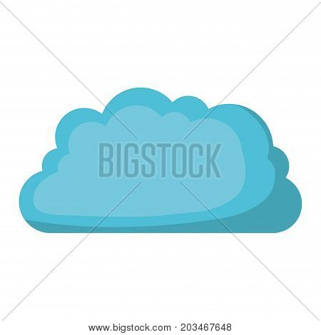 cloud storage data service icon shading vector illustration