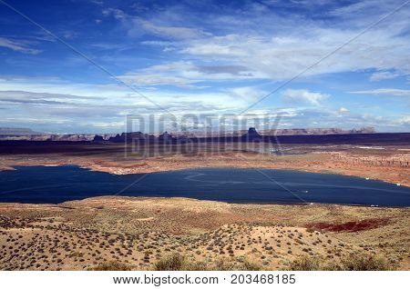 Lake Powell scenic large view landscape USA