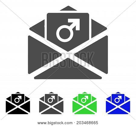 Penis Enhancement Spam icon. Vector illustration style is a flat iconic penis enhancement spam symbol with black, gray, green, blue color variants. Designed for web and software interfaces.