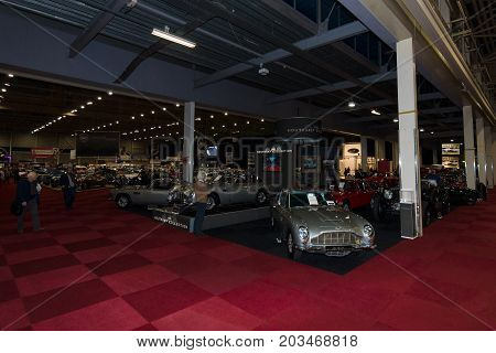MAASTRICHT NETHERLANDS - JANUARY 09 2015: Exhibition Pavilion. International Exhibition InterClassics & Topmobiel 2015