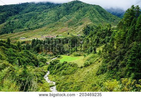 Mountain Scenery In Bhutan