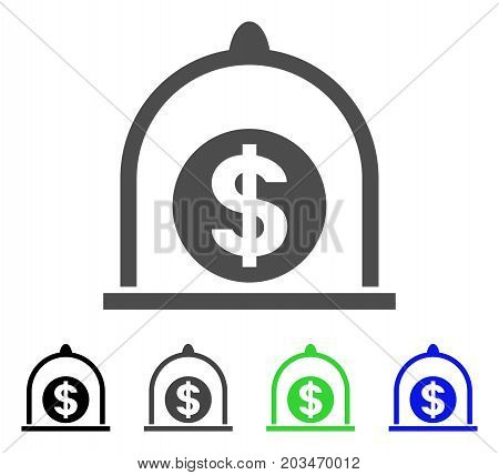 Dollar Standard icon. Vector illustration style is a flat iconic dollar standard symbol with black, grey, green, blue color variants. Designed for web and software interfaces.