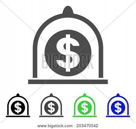 Dollar Standard icon. Vector illustration style is a flat iconic dollar standard symbol with black, gray, green, blue color versions. Designed for web and software interfaces.