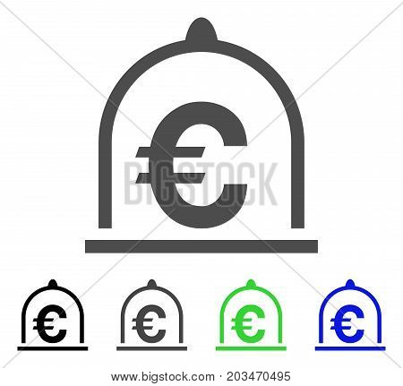 Euro Standard icon. Vector illustration style is a flat iconic euro standard symbol with black, grey, green, blue color variants. Designed for web and software interfaces.