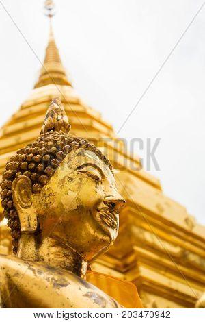 Golden Statue Of Buddha In Doi Suthep