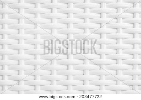 texture or background of white braided plastic soft horizontal image