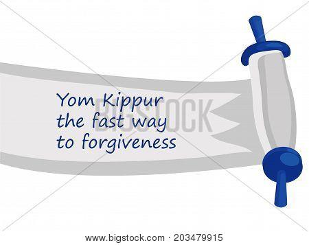 Yom Kippur , Jewish holiday, greetings card