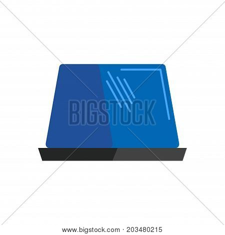 Car Blue Flasher Light Sign Isolated. Vector Illustration