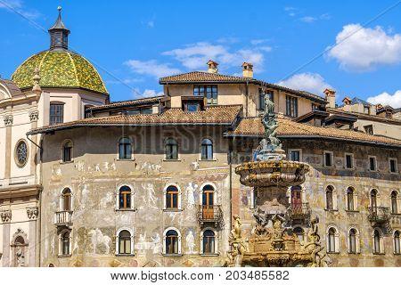 Trento Piazza Duomo - Trentino Alto Adige region - Italy