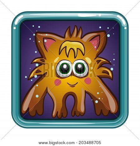 App icon with fantastic animal. Cartoon animal character