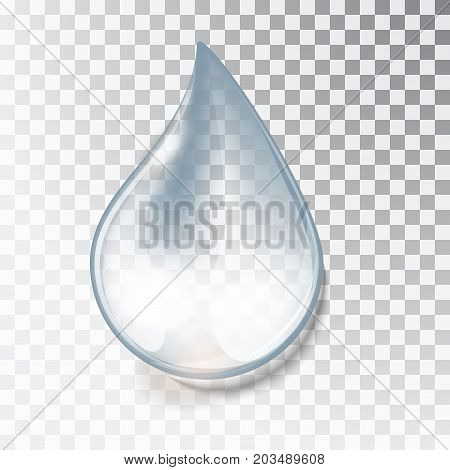 Drop Of Water On A Transparent Background.