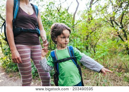The Child Shows His Mother A Trail.