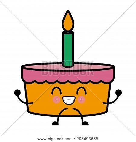 Bakery Birthday Cake Kawaii Cartoon