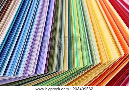 colorful paper - variation of different colored paper texture background