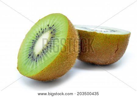 Kiwi Fruit, Half Of Kiwi Isolated