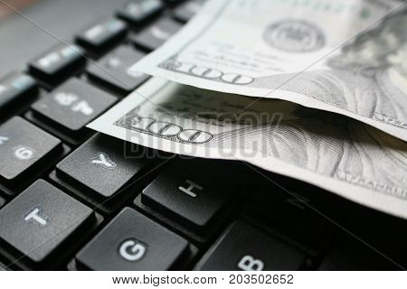 Hundreds On Keyboard Stock Photo High Quality