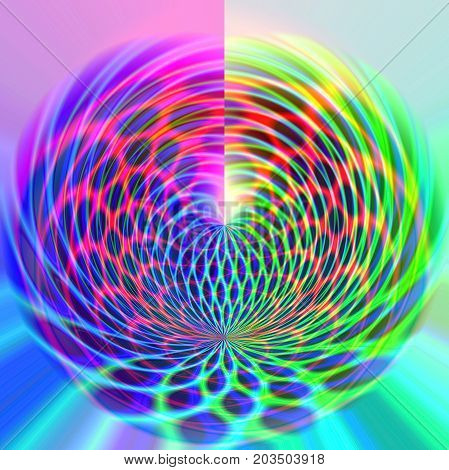 Abstract coloring background of the pastels gradient with disco effects,poolar coordinates and lighting effects