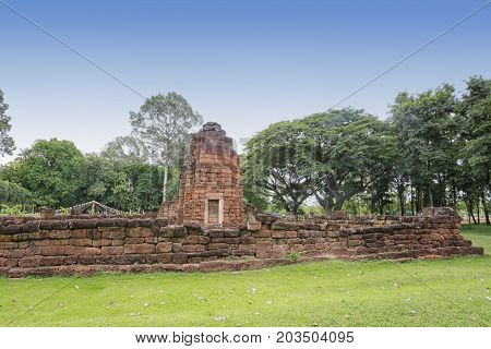 Ancient architecture of ThailandThe name is Prang KU Papa Chai at Khon Kaen province Attractions that are popular. poster