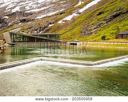 Modern Tourist Information Center At Trollstigen