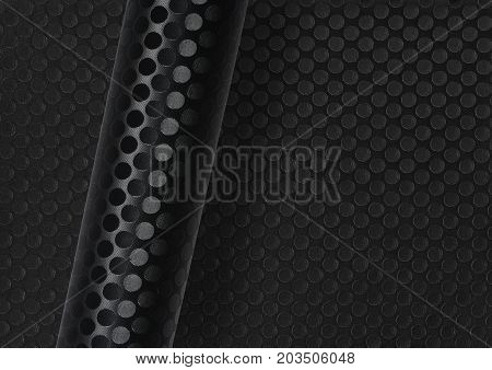 rolled dark round dotted surface over same full frame textured background