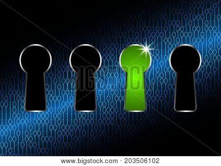 Technology Digital Cyber Security Keyhole