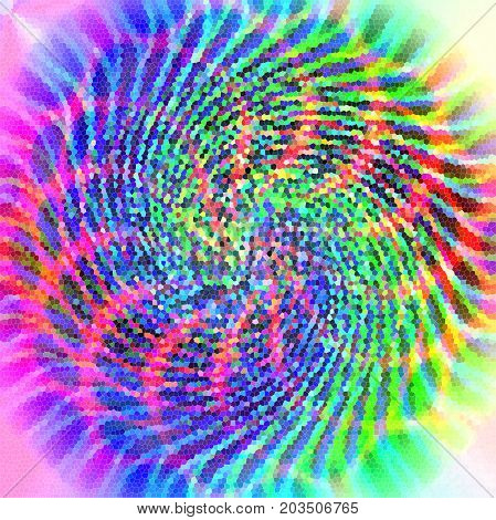 Abstract coloring background of the pastels gradient with disco effects,wave,twirl,stained glass  and lighting effects