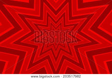 nine pointed star red abstract vector pattern