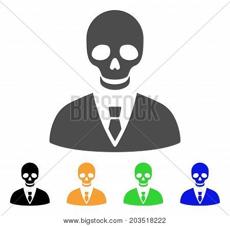 Deadly Manager icon. Vector illustration style is a flat iconic deadly manager symbol with black, gray, green, blue, yellow color variants. Designed for web and software interfaces.