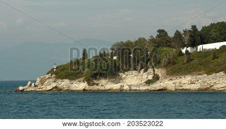 An island in the Ionian Sea, near Parga, Greece