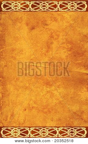Grunge background with celtic traditional patterns