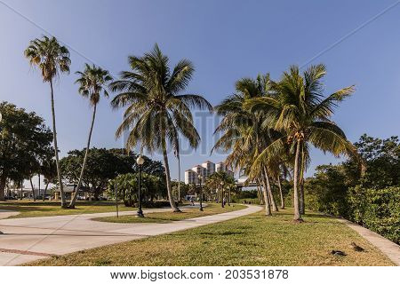Centennial Park in Fort Myers Florida. USA