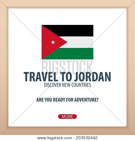 Travel To Jordan. Discover And Explore New Countries. Adventure Trip.