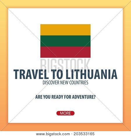 Travel To Lithuania. Discover And Explore New Countries. Adventure Trip.