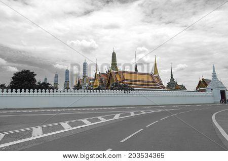 Na Phra Lan road, Bangkok, Central of Thailand