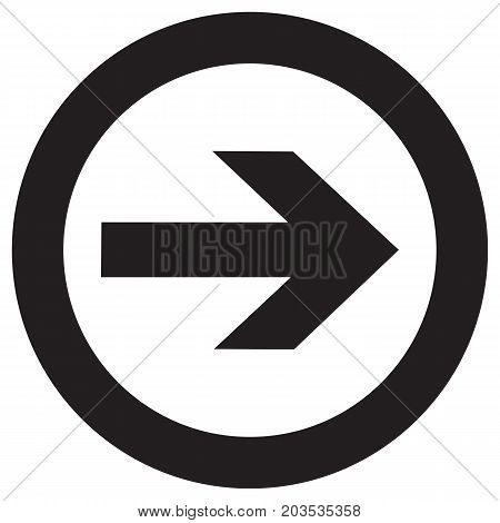 Right Rounded Arrow vector icon continue cursor direction east