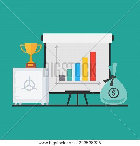 Concept Safe Money Flip Chart Cup Success