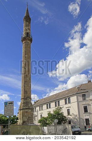 Ancient Turkish Minaret In Eger