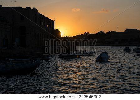 Sunset In Valletta, Malta