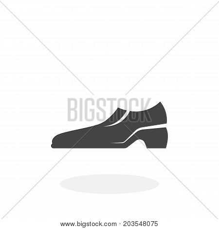 Shoes icon isolated on white background. Shoes vector logo. Flat design style. Modern vector pictogram for web graphics - stock vector
