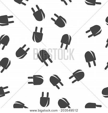 Plug seamless pattern. Vector illustration for backgrounds